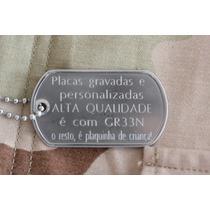 Dog Tag Premium Placa Gravada + Corrente Inox 75 Cm Dogtag