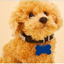 Placa Osso Identificação Personalizado Cão Pet Tag