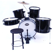 Bateria Musical Bnb Infantil Nova. Cor - Preta Completa !!!