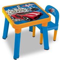 Mesa Infantil C/ Cadeira Hotwheels Mattel