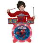 Bateria Infantil Acústica Spider-man 1148 Yellow Com Luzes