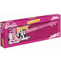Guitarra Infantil Luxo Barbie Pop Star_100% Original