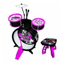 Bateria Infantil Monster High - Fun Toys - N.f. E Garantia