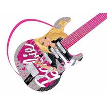 Barbie Guitarra Infantil Luxo Instrumentos Musicais