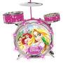 Bateria Acústica Princesas Disney Original - Yellow