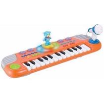 Teclado Musical Infantil Urso Dançante C/ Microfone Winfun