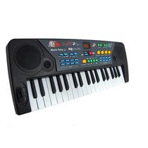 Piano Teclado Musical Infantil Mq 004 Com Rádio Fm E Microfo