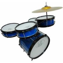 Bateria Infantil Acústica Rock Baby Am Para 2 Tons Azul
