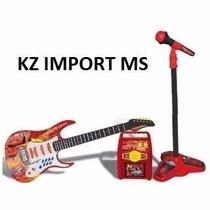Guitarra - Kit Rock Star Car Amplificador Guitarra Microfone