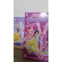 Microfone Infantil Princesas Disney Com Luzes E Som