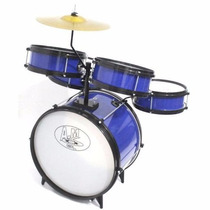 Bateria Acustica Infantil Rock Baby (am) - Azul