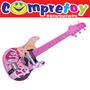 Barbie Guitarra Infantil Luxo Fun; Instrumento Musical