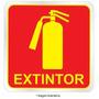 Placa Adesivo Sinalização Fotoluminescente Extintor Indika