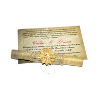 Convite Padrinho/casamento Pergaminho - Muito Lindo!!!