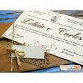 Convite De Casamento Rústico, Casamento Modelo Rústico