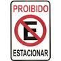 Ps26 Placa Indicativa Proibido Estacionar Material Pvc