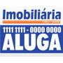 Placa Imobiliária 40x30cm 2mm (6 Unidades) Vende / Aluga