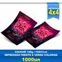 Panfleto - 15x21cm - Papel Tradicional - Couchê 120 - 1000un