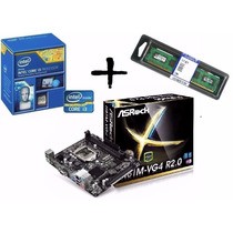 Kit Proc I3 4170 3.7ghz+ Asrock H81m-vg4 + Mem 4gb Kingston
