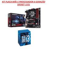 Kit Placa Mãe E Processador 6 Geração Socket 1151