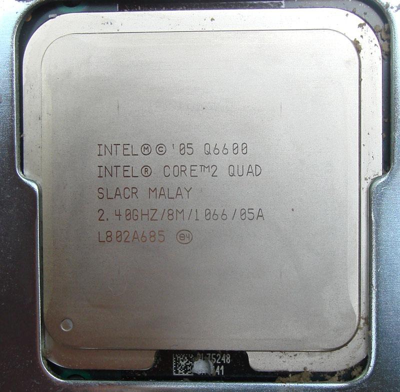 Intel Core2quad Q6600 2.40ghz/8mb Cache/fsb 1066/65nm Cooler - R ...