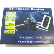 Intercomunicador Bluetooth Moto Capacete 2 Centrais 1000 Mts