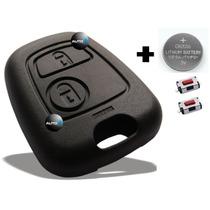Capa Chave Peugeot 206 207 Citroen C3 + Botões + Bateria