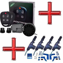 Kit Alarme Pósitron Exact + Travas Elétricas Onix 4 Portas