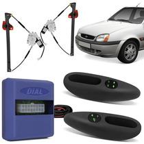 Vidro Eletrico Fiesta Simples 4p Kit Dianteira Sensorizada