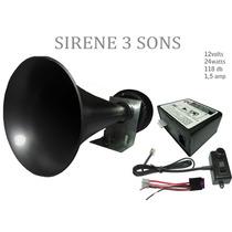 Sirene De Viatura Policia, Bombeiro, Etc 3 Sons