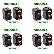 4pçs Botão Vidro Eletrico Trazeiro Opala 88/92 Original Novo