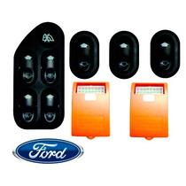 Kit Vidro Elétrico Ford Fiesta Amazon 4 Portas 2002> Fdse005