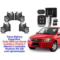 Alarme Px Presença + Trava Elétrica Prisma - Celta 4 Portas
