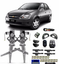 Kit Vidro Eletrico Corsa Classic 4 Portas + Trava + Alarme