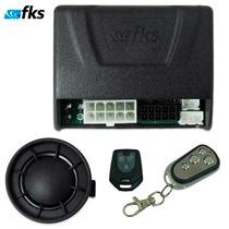 Alarme Automotivo Fks Fk902 1 Controle Cromado C/ Antifurto