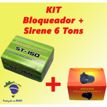 Kit Bloqueador Automotivo Veicular + Sirene 6 Tons