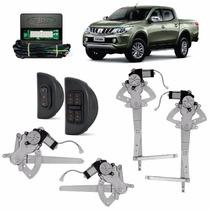 Kit Vidro Eletrico L200 Triton 4 Portas Completo Sensorizado