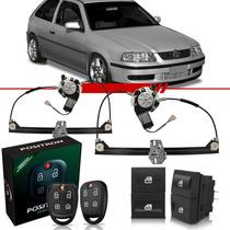 Alarme Exact Ex330 + Kit Vidro Elétrico Gol G3 2001 2 Portas