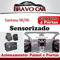 Kit Vidro Elétrico Santana 98/06 Botão Original 4p Completo