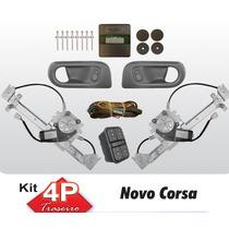Kit Vidro Eletrico Corsa Novo 4p Traseiro Com Antiesmagament