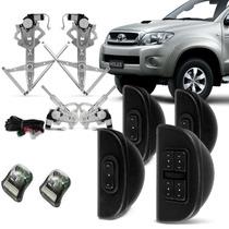 Kit Vidro Elétrico Hilux 4 Portas Completo Sensorizado