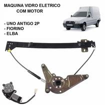Maquina Vidro Eletrico Com Motor Uno 2p / Fiorino / Elba