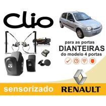 Kit Vidro Elétrico Clio 2002 Dianteiras Do Modelo 4 Portas