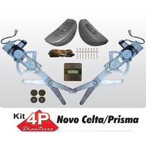 Kit Vidro Eletrico Celta Prisma 4 Portas Com Antiesmagamento