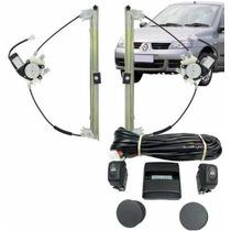 Kit Vidro Elétrico Clio 2 Ou 4 Portas 2001/2012 Sensorizado