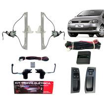 Kit Vidro Elétrico Fox 2 Portas + Trava Específica