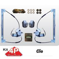 Kit Vidro Eletrico Renault Clio 4 Portas Dianteiro Sensoriza