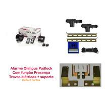 Alarme Olimpus Com Presença + Trava Elétrica Celta 2 Portas