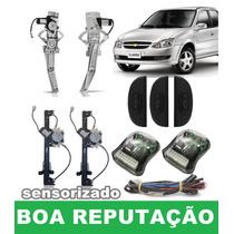 Kit Vidro Elétrico Sensorizado Corsa Classic 2014 - 4 Portas
