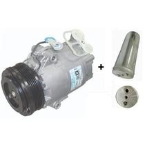 Compressor Meriva Delphi + Filtro Secador 1.4/1.8 6pk